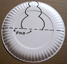 A paper plate pop up snowman is a fun winter craft for kids to make. & Paper Plate Pop Up Snowman | paper plates | Pinterest | Snowman ...