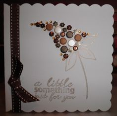 Woodware Bubble Bloom - Felicity. Candi by Craftwork Cards, gems and ribbon by Meiflower.