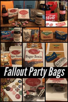 Party bags for a teenager's birthday. Printed models for boxes on cardboard … – Wanderlust Fallout Theme, Fallout Posters, Fallout Props, Fallout Comics, 10th Birthday Parties, Birthday Jokes, Vault Tec, Teenager Birthday, Video Game Party