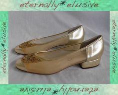 Italian Designer MARTINI OSVALDO Beaded Mesh Shoes Women Ladies Size 7.5 40 1/2
