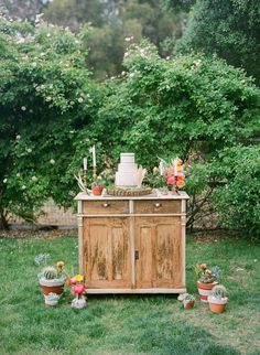 Cake Display at Ojai Inspired Wedding Shoot with Bash Please, Bryce Covey Photography, Yeah Rentals, and Found Vintage Rentals