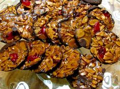 Traditional Florentines: The Easy Recipe Cookie Desserts, Cupcake Cookies, Florentine Biscuits, Easy Healthy Recipes, Easy Meals, Toffee Recipe, Tandoori Chicken, Christmas Cookies, Diy Christmas