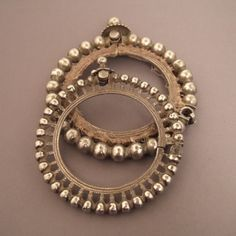 Two beautiful silver bracelets worn by women in Rajasthan and Gujarat and who often wore bracelets to surround other simple series ...