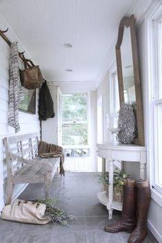 white foyer