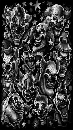 squid face by nightrhino on DeviantArt Joker Clown, Le Clown, Clown Faces, Joker Art, Creepy Clown, Evil Clown Tattoos, Skull Tattoos, Body Art Tattoos, Sleeve Tattoos