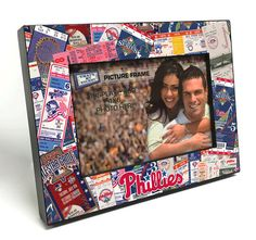 Philadelphia Phillies Ticket Collage Wooden 4x6 inch Picture Frame - Officially Licensed by MLB