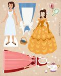 Fairytale doll printables - beauty & the beast, cinderella, etc