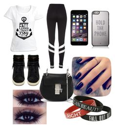 """""""Listen to centuries by fall out boy"""" by its-emmy-jo ❤ liked on Polyvore featuring Yves Saint Laurent, Kate Spade, Lottie and Chloé"""