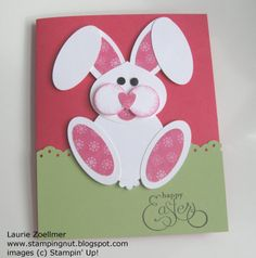 handmade Easter card ... luv this punch art bunny ... Stampin' Up!