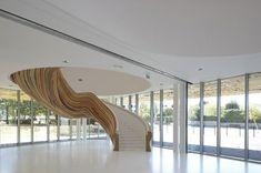 moderne architektur treppenhaus gestalten nachhaltiges design