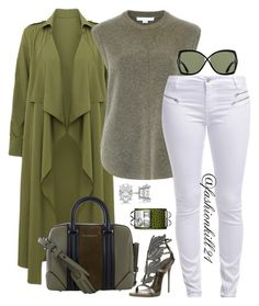 """Khaki"" by fashionkill21 ❤ liked on Polyvore featuring Alexander Wang, even&odd, Givenchy, Giuseppe Zanotti, Allurez, Hermès and Tom Ford"