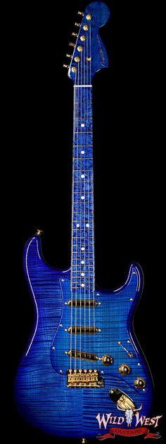 Fender Custom Shop Masterbuilt Yuriy Shishkov 1969 Stratocaster NOS Flame Top Birdseye Nk Royal Blue #fenderguitars
