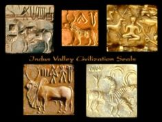 "Indus Valley Civilization Seals (note the ""seal"" on upper right is actually taken from a Western European artifact, not sure but possibly the Gundestrup cauldron"