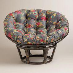 Feel the stress of the day melt away as you sink into our luxurious Antigua Micro Suede Papasan Chair Cushion. Throw Cushions, Chair Cushions, Pillows, Stool Cushion, Chair And A Half, Papasan Chair, Apartment Living, 1st Apartment, Dream Apartment