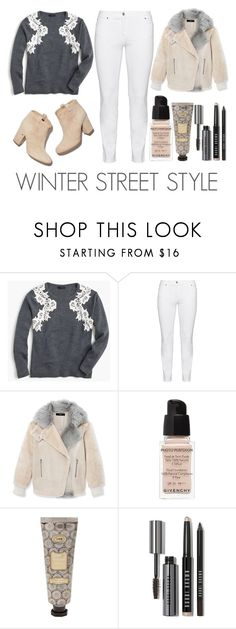 """Winter Street Style"" by latoyacl ❤ liked on Polyvore featuring J.Crew, Steilmann, TIBI, Laurence Dacade, Givenchy and Bobbi Brown Cosmetics"