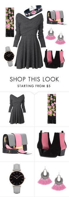"""""""PINK-UP YOUR GRAY & BLACK STLYE!"""" by madhatcat ❤ liked on Polyvore featuring Gucci, Prada, Emporio Armani and CLUSE"""