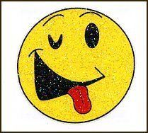 """Simlie Face: Glitter Temporaray Tattoo by Tattoo Fun. $1.95. Sometimes you want emoticons in real life well here you go. This 1 1/2"""" X 1 1/2"""" smiley face is great way to show of your goofy side. The yellow is fun and vibrant and the glitter is just an awesome addition."""