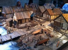 Viking village model on display.                                                                                                                                                      Mehr