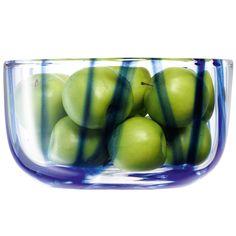 LSA Cirro Bowl Cobalt 24cm | Glass Bowl Salad Bowl Fruit Bowl - Buy at drinkstuff