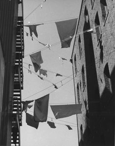 Laundry in Post Alley, 1978 Windows Image, May Days, Pike Place Market, Downtown Seattle, Print Box, Stairways, Virginia, Oriental, Laundry
