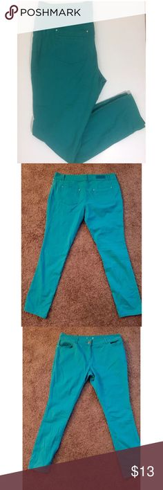 """Cute Teal/Mint skinny jeans Never been worn. Waist:38"""". Inseam:29"""".  Rise:11"""" Jeans Skinny"""