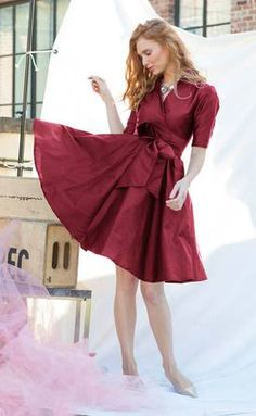 Korrinne Dress Burgundy