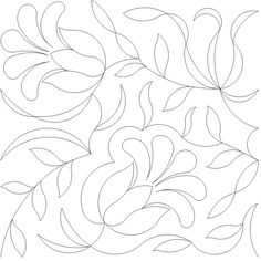 Sketches and motifs for stitches. Quilting Stencils, Quilting Templates, Longarm Quilting, Free Motion Quilting, Hand Quilting, Machine Quilting Patterns, Hand Embroidery Patterns, Cross Stitch Embroidery, Quilt Patterns