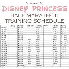 Disney Princess Half Marathon Training Schedule.
