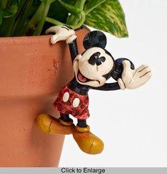 Enesco Disney Traditions by Jim Shore 4016548 Mickey Mouse Garden Pot Hanger Walt Disney, Deco Disney, Disney Fun, Disney Magic, Disney Dream, Disney Stuff, Mickey Mouse And Friends, Mickey Minnie Mouse, Disney Garden