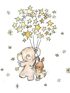 Etsy の Nursery Art STAR PALS Art Print by trafalgarssquare