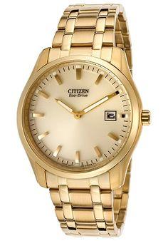 men watches Top watches Citizen Citizen Men's Eco Drive AU1042-53P Bracelet Analog Display Gold Watch