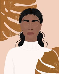 JUNGLE illustration art print Art Print by Nicola Jane Creative - X-Small Art And Illustration, Black Girl Art, Art Girl, Arte Dope, Black Art Painting, Woman Painting, Pix Art, Grafik Design, Aesthetic Art