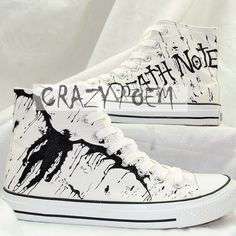 Anime Death Note Custom Hand Painted Hi-Top Canvas Shoes Unisex Sneakers Custom Shoes Best Gift for Men Women,US Free Shipping