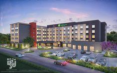 Hotel Design Architecture, Modern Buildings, Commercial Design, Building Ideas, True Beauty, Minecraft, Exterior, Lights, City