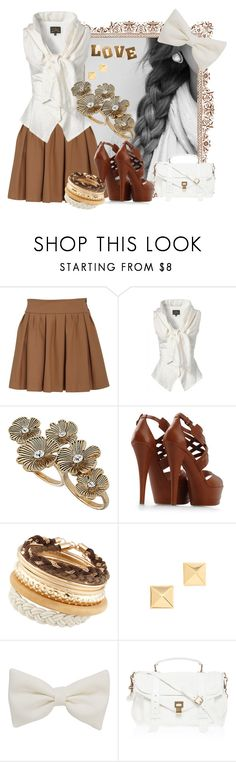 """No More Pain, No More Drama"" by texas1226 ❤ liked on Polyvore featuring Ganni, Vivienne Westwood Anglomania, Dorothy Perkins, Casadei, ALDO, Kenneth Jay Lane, American Apparel, Proenza Schouler, bow blouses and pleated skirts"