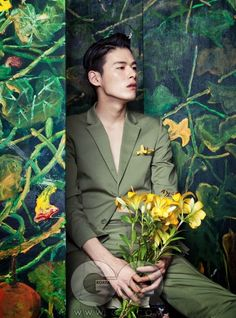 Korean Fashion – Designer Fashion Tips Man Photography, Creative Photography, Fashion Photography, Kim Won Joong, Korean Men Hairstyle, Flower Words, Pix Art, Charming Man, Oriental Fashion