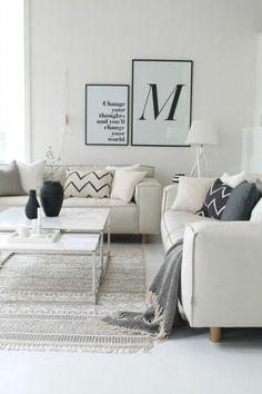 Wohnzimmer Weiß Skandinavisch