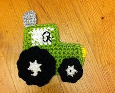 This cute little applique is done in under 30 minutes. You won't need much yarn to do this as well. Your boys will love this applique for their hats, t-shirts, jeans…!