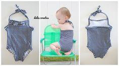 delia creates: Basic Baby Swim Suit TUTORIAL