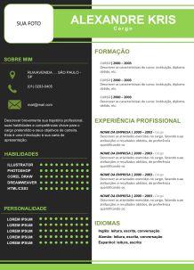 Modelo de currículo Grátis - Baixar 50 CV / Curriculum Vitae
