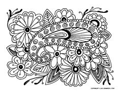 Free coloring page «coloring-adult-difficult-16». Complex coloring page with many abstract forms