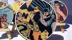Comic book geek coasters - great Father's Day gift!
