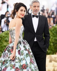 Amal and George Clooney #Met Gala 2018