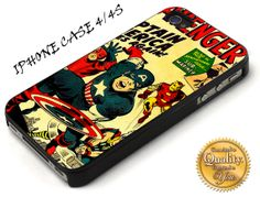 Avengers Captain America iPhone 4 Case iP by SanonNaraStore, $15.00