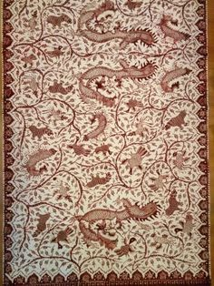 Batik lasem with mythical animal such as dragon.Simply  beautiful.Bang-bangan batik 5cbd6bad1b
