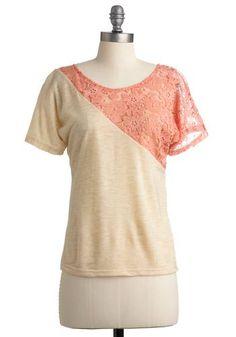 diy lace shirt <3