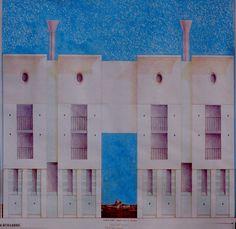 1990 VENEZIA_PIAZZALE ROMA_ fronte sul canale _Biennale di Venezia_ V Mostra Internazionale di Architettura_ by Brunetto De Batté & Giovanna Santinolli
