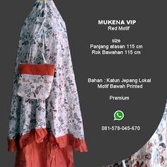 Mukena Vip Red Motif - Grosir Pesan Mukena katun jepang santung bordir batik bali murah anak