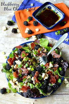 Blackberry, Bacon Blue Cheese Salad w/ Honey Balsamic Vinaigrette