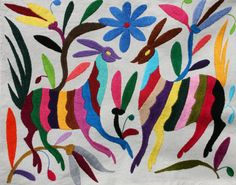 Otomi Fabric piece Super High Quality by ILoveOaxaca on Etsy, $30.00